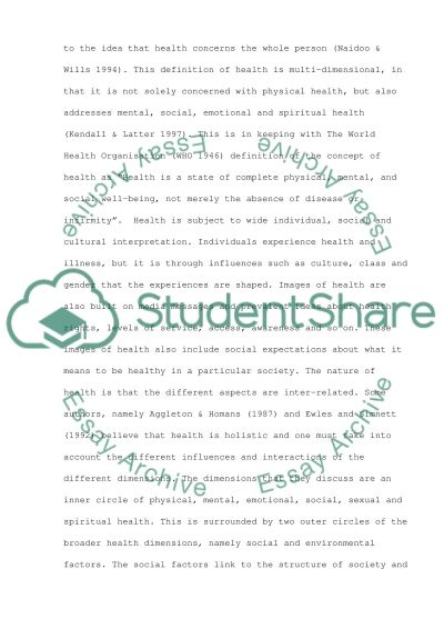 Effective health promotion or education issues essay example