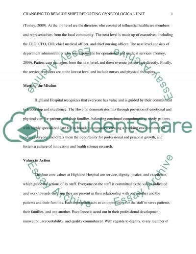 Leadership and Nursing Systems Management Essay example