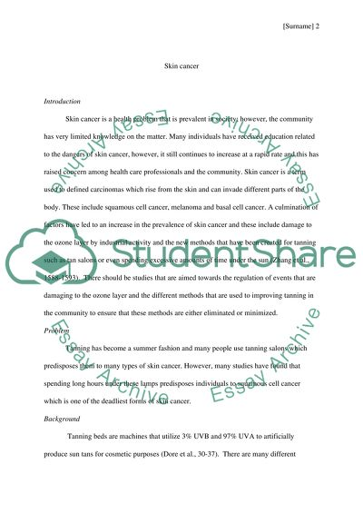 The Yellow Wallpaper Analysis Essay Skin Cancer Read Textpreview Othello Essay Thesis also Essay Examples For High School Students Skin Cancer Essay Example  Topics And Well Written Essays    Essay On High School Experience