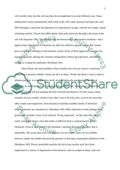 Virus paper essay example