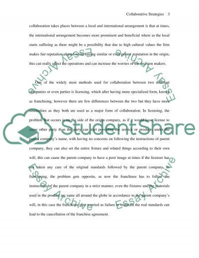 Collaborative Strategies essay example