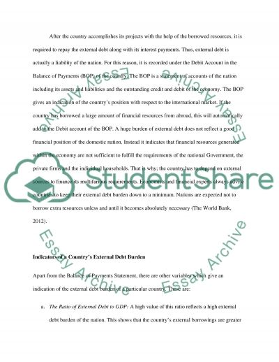 Problems and prospects of external debt management  Essay example