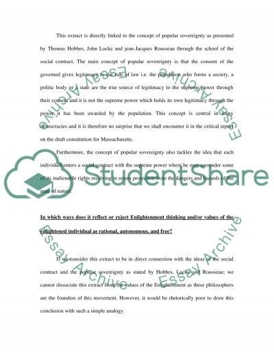 Sovereignty Essay essay example