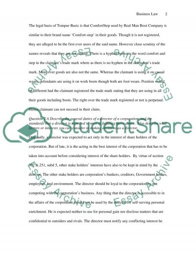 Trade mark and Copy right essay example