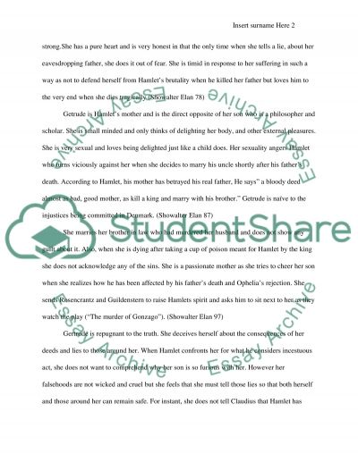 Shakespeares Hamlet essay example