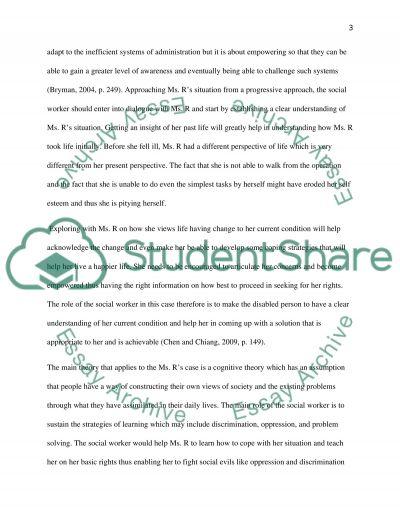 Case Study - Social Work