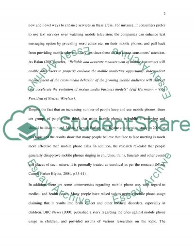 Mobile Services essay example