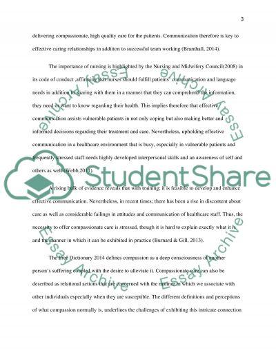Essay- Exploring a key Nursing concept: Communication