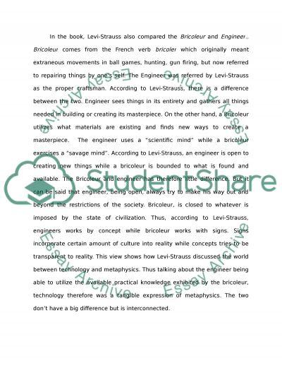 Analysis of Claude Levi Strausss Books