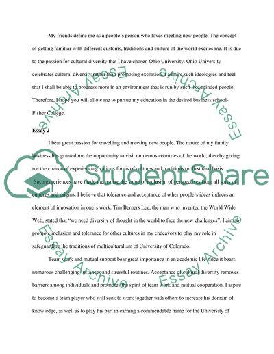 English Application Essays