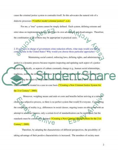 Criminology Bachelor Essay essay example
