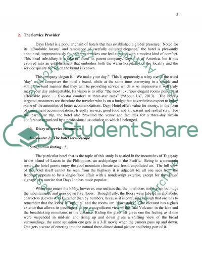 Extended Service Encounter Reflective Journal essay example