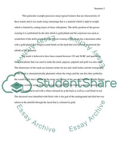 Compare/Contrast Essay The Formal Analysis