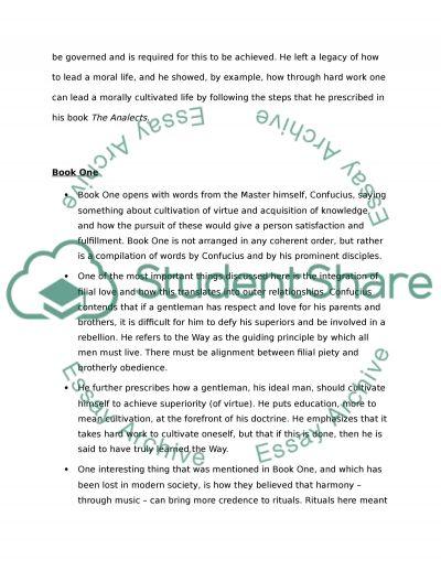 Confucius essay example