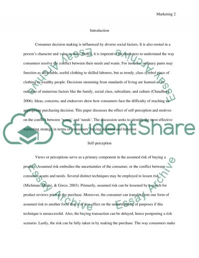Choosing Between Wants and Needs essay example