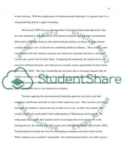 Educational Leadership Theories