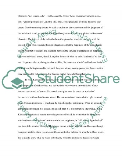 Concept of Happiness essay example