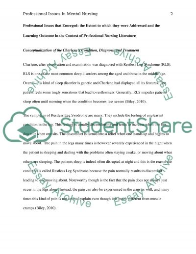 Professional Issues in Mental Health Nursing and my Readiness for Addressing them as a Registered Nurse essay example