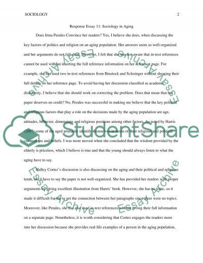 Sociology of aging- classmate response 11