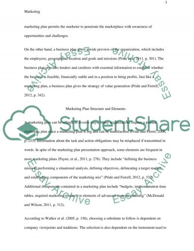 Reflective Essay - Explore the Nature and Characteristics of the Marketing Plan Tool