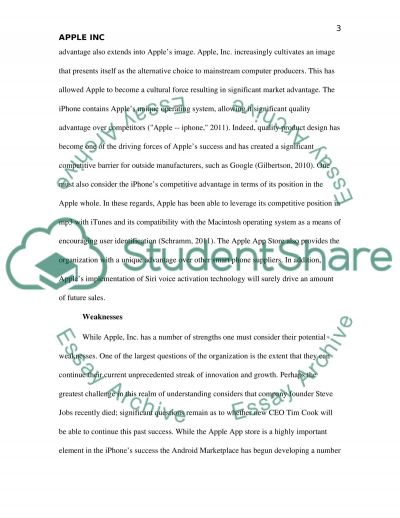 Apple Inc. Business Analysis Essay example