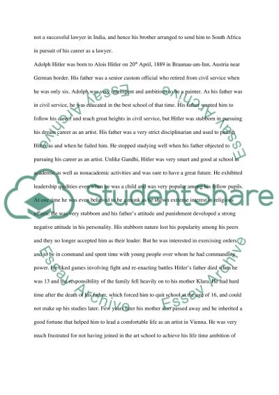 Compare and contrast two leaders essay example