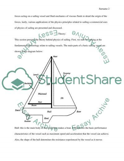 Physics of sailing essay example
