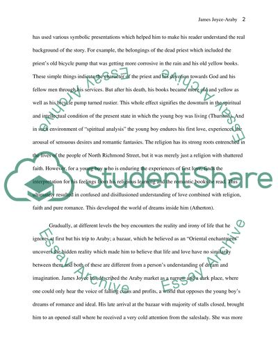 Thesis For Argumentative Essay Examples A Short Discussion On The Use Of Imagery In James Joyces Araby Conscience Essay also Comparison Contrast Essay Example Paper A Short Discussion On The Use Of Imagery In James Joyces Araby Essay Essay On Health Care Reform