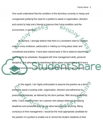 Letter Prefect Application Letter Template
