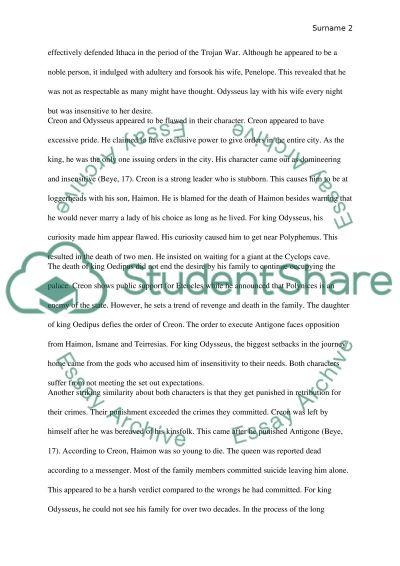 similarities between odysseus and creon research paper similarities between odysseus and creon essay example