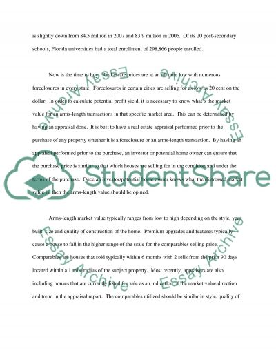 U.S. Real Estate Market - Commercial & Residential Market essay example