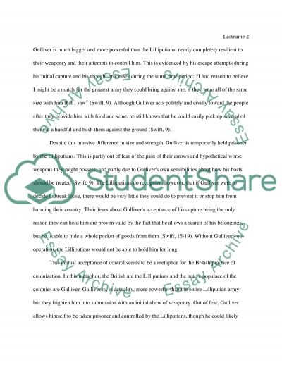 the use of size as a metaphor in gulliver s travels research paper the use of size as a metaphor in gulliver s travels essay example
