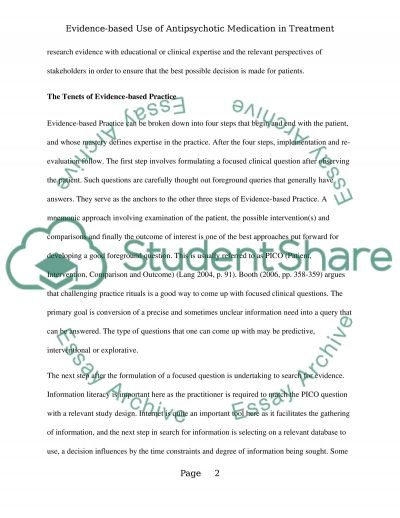 The use of Clozapine in the treatment of schizophrenia Essay example
