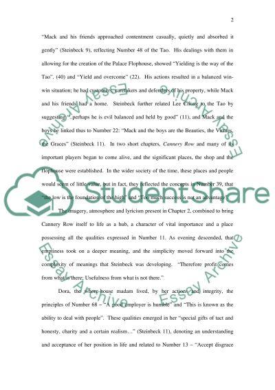 John Steinbecks Cannery Row essay example