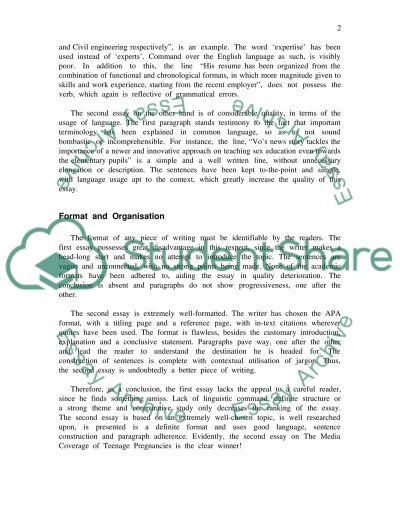 Writing Skills essay example