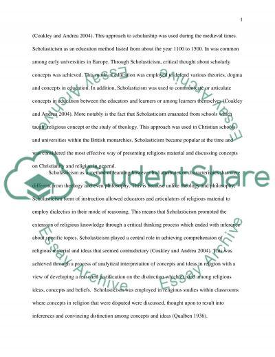 Scholasticism essay example