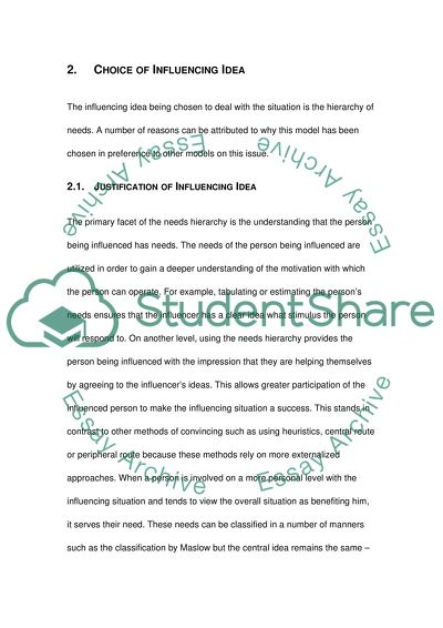 Influencing Situation Essay