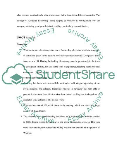 Strategic Marketing Case Study Analysis Essay