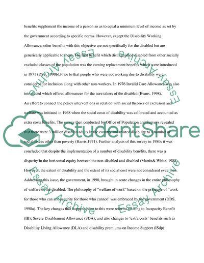 social exclusion essay