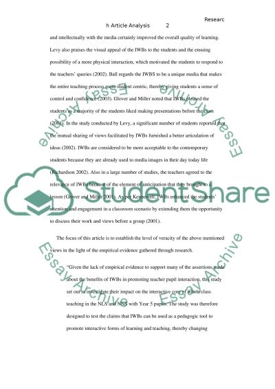 The Impact of Interactive Whiteboards on Teacher-Pupil Interaction essay example