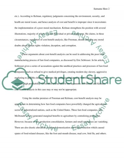 Environmental Ethics essay example