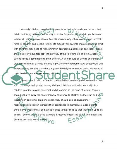 what is a good parent essay