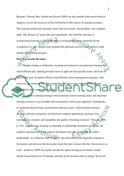 Overcoming Asynchronous Online Learning Limitations essay example