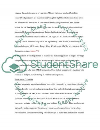 Socially Responsible Marketing essay example