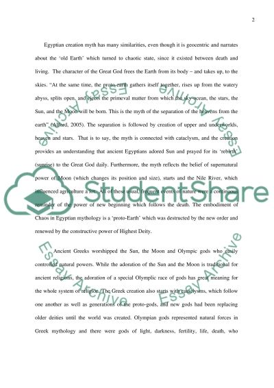 Mysterious mythology essay example