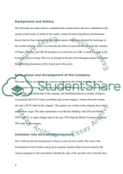 The Case Study on Airbus Essay example