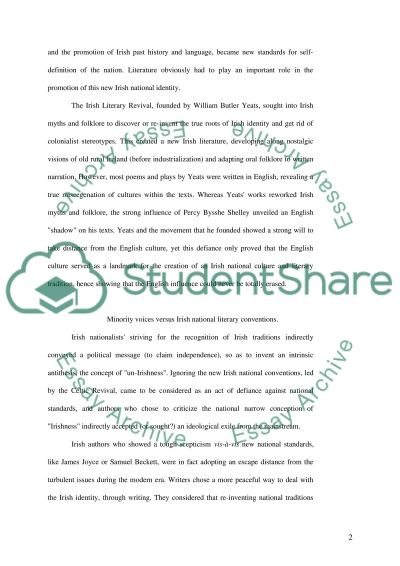 Irish Literature in English essay example