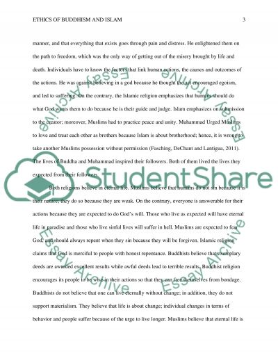 Ethics of Buddhism and Islam essay example