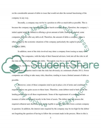 Principles of finance essay example