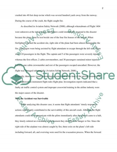 Continental Airlines Flight 1404 essay example